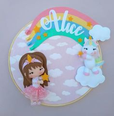 Felt Wreath, Baby Mobile, Diy Doll, Clay Projects, Nursery Decor, Hair Bows, Baby Gifts, Diy And Crafts, Alice