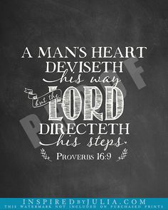 Proverbs 16:9, The mind of man plans his way, but the Lord directs his path