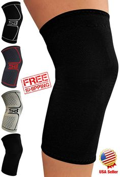 21cea825d1 Knee Brace Support Compression Sleeve For Joint Pain Arthritis Relief #ebay  #amazon #fitness