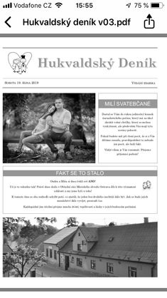 Naše svatební noviny, měly celkem 8 stránek, vyráběl je můj svědek :) Nasa