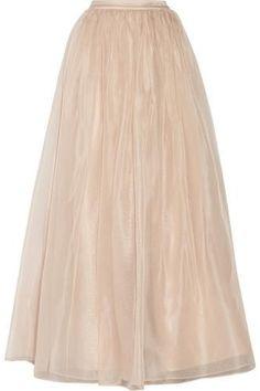 So pretty Abella silk-organza maxi skirt #maxiskirt #women #covetme #alice+olivia