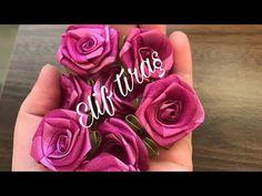 Ribbons, Rose, Paper, Flowers, Youtube, Fabric, Plants, Streamer Flowers, Bias Tape