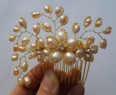 Bridal Hair comb Wedding Hair Comb Wedding by MagicBluebellDesigns