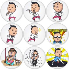 "Gangnam Style PSY 1.75"" Badges Pinbacks, Mirror, Magnet, Bottle Opener Keychain http://www.amazon.com/gp/product/B00C0N2Q34"
