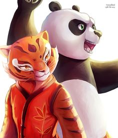 Tigress and PO by Vermeilbird.deviantart.com on @DeviantArt