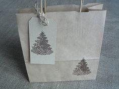 Christmas Tree Gift Bag And Tag