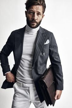 turtleneck & blazer, mens winter style & fashion