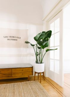 Design Crew: A Fresh Start with Mid-Century Style In a San Francisco Walk-Up - Front + Main Mid Century Buffet, Mid Century Sofa, Mid Century Style, Mid Century Furniture, Expandable Dining Table, Dark Furniture, Living Spaces, Living Room, Wood Beds