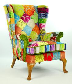 Love this! Patchwork Parker Knoll Armchair Designers Guild by JustinaDesign