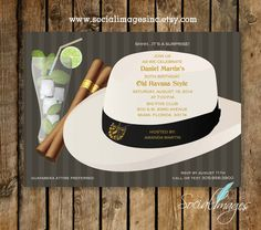 HAVANA NIGHTS Party Invitation Qty. 15-100 // by SocialImagesInc