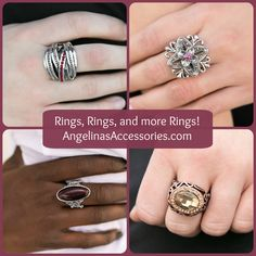 I carry a wide variety of $5 Fashion RINGS, with either an adjustable or stretchy band. One-Size Fits Most.