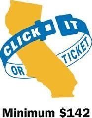Wear your seatbelt California!