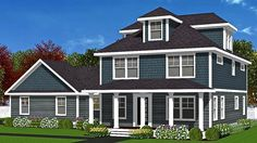"Do you know Modular? We do! The Northampton is a Modular Colonial ""Four Square"" Style house. Click to see plan."