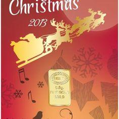 $31.00 - 0.5 G GRAM 999.9 CHRISTMAS 2013 24K FINE GOLD BULLION BAR WITH LBMA CERTIFICATE  from @GoldAngels  #GoldBullion #SpecialEditionChristmas2013 #GoldGiftBar