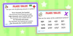 Place Value Maths Challenge Cards