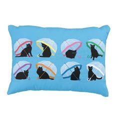"Raining Cats 'n Cats Accent Pillow 16"" x 12"""