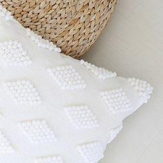 DIY modern pom pom pillow