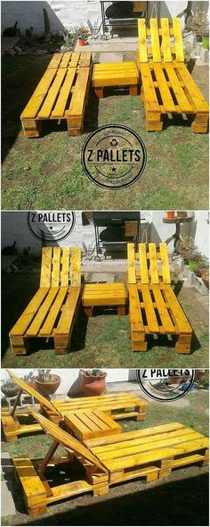 Home Check out this fabulous creation of the sun lounger set of wood pallet. In first gaze you will Pallet Crates, Pallet Art, Wood Pallets, Outdoor Projects, Pallet Projects, Pallet Ideas, Pallet Coat Racks, Palette Furniture, Build A Dog House