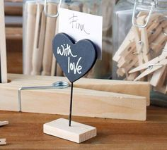 Small Black Heart Chalkboard on a Wooden Stand by Parlane from Home-Treats.co.uk