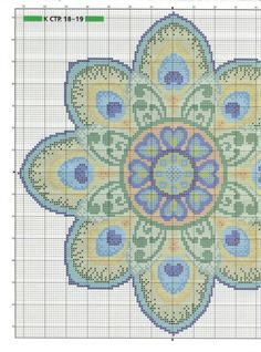 hmmm..... this would be a lot of work, but might be very cool as a cross stitched flooral 'rug'