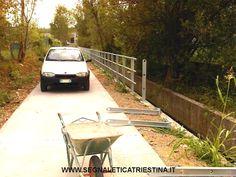 realizzazione pista ciclabile Muggia (Trieste) - fornitura e posa in opera di guard-rail