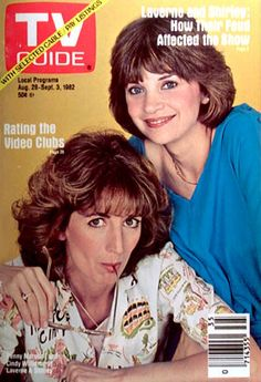 TV Guide August 1982 - Penny Marshall and Cindy Williams of Laverne and Shirley. Vintage Television, History Of Television, Archie Comics, 1980s Tv Shows, Cindy Williams, Penny Marshall, Laverne & Shirley, Old Shows, Great Tv Shows