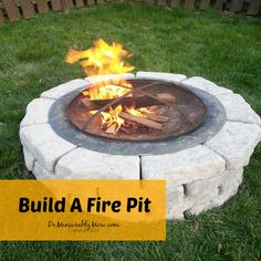 Build A Fire Pit - See how a backyard in need of a focal point and gathering spot comes alive with a simple to build fire pit. With a little…