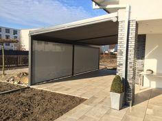 #terrassendach für den Neubau. #Senkrechtmarkise nach vorne verbaut.