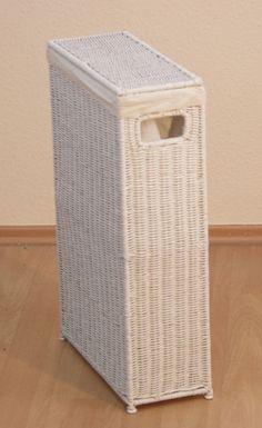 Raumspar Nischen Wäschekorb Wäschesammler Wäschetruhe Wäschebox Wäschetonne weiß in Möbel & Wohnen, Haushalt, Wäsche | eBay!