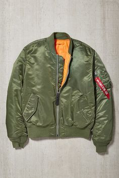 Pin for Later: Secretly Make Over the Men in Your Life With These 31 Gift Ideas If He Refuses to Wear a Leather Jacket . . . Get him an olive green bomber. Alpha Industries X UO Slim-Fit MA-1 Bomber Jacket  ($149)