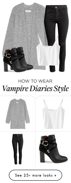 """""""Cami Inspired Outfit - The Vampire Diaries / The Originals"""" by fangsandfashion on Polyvore featuring By Malene Birger, H&M and Miss Selfridge Lit Outfits, Fandom Outfits, Fall Outfits, Summer Outfits, Fashion Outfits, Womens Fashion, Vampire Diaries Fashion, Vampire Diaries Clothes, Concert Outfit Fall"""