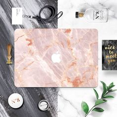 Wouldn't this look amazing on your desk? 👩🏼‍💻Pick out a new #MacBook skin with 20% discount at @thisisfaded 💗Use code THISISFADEDxPREPPY . . . . #mac #macbookpro #macbookair #apple #tech #accessories #skin #sticker #macbookskin #shopping #pink #marble #design #office #deskdecor #desk #rosegold