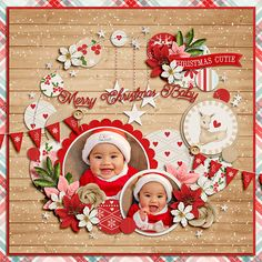 Creating A Children's Birthday Scrapbook – Scrapbooking Fun! Baby Girl Scrapbook, Baby Scrapbook Pages, Birthday Scrapbook, Scrapbook Albums, Christmas Scrapbook Layouts, Scrapbook Paper Crafts, Scrapbooking Layouts, Paper Crafting, Merry Christmas Baby