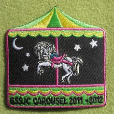 Girl Scouts San Jacinto 100th anniversary year Carousel 2011 - 2012 patch. Thank you, Adrienne.