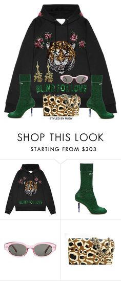 """""""Untitled #1026"""" by styledbyrudy ❤ liked on Polyvore featuring Gucci, Vetements and Yves Saint Laurent"""