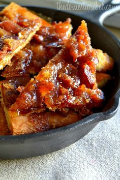 Maple Caramel Bacon Crack recipe -- just bacon, crescent rolls, maple syrup, brown sugar