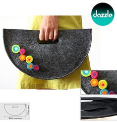Felt Crafts Diy, Sewing Crafts, Sewing Projects, Bag Sewing, Diy Clutch, Ethnic Bag, Handmade Handbags, Unique Bags, Fabric Bags