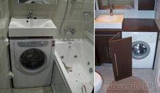 5 дельных советов, как разместить стиральную машинку в крошечной ванной комнате Wd 40, Washing Machine, Laundry, Home Appliances, Laundry Room, House Appliances, Kitchen Appliances, Laundry Service, Washers