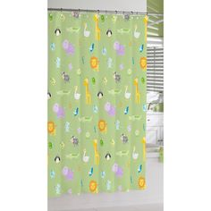 Green Safari Print Cotton Shower Curtain | Overstock™ Shopping - Great Deals on Shower Curtains