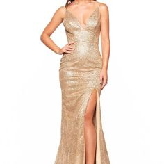 Sparkle Mermaid Champagne Sequined Evening Dress from modsele Two Piece Bridesmaid Dresses, Prom Dresses, Formal Dresses, Champagne Evening Dress, Mermaid Evening Dresses, Slit Dress, My Girl, Sequins, Sparkle