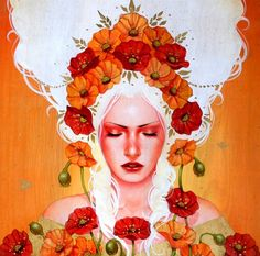 Sylvia Ji is a unique artist who combines contemplative and spiritual themes with bright colors and female characters that inspire brutal sincerity and delicacy.
