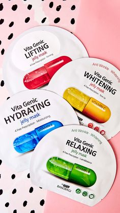 Vita Genic Jelly Mask. Consider these jelly masks your in-home, intensive, super-hydrating vitamin facial treatment! We love that there's no slipping and sliding with this ultra-nourishing mask! The unique liposome jelly in this mask is specially formulated to deliver micro-nutrients into your skin, which allows for the fullest product absorption, deep into the skin's surface. #shophush #hushfam