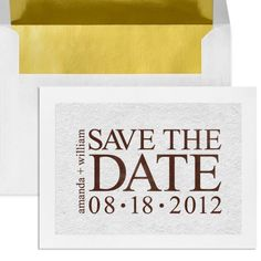 Personalized Save The Date Rubber Stamp Contemporary by 2impress, $29.95