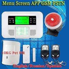 Smart APP Menu LCD Wireless 433MHZ SMS PSTN GSM Dual Network Home automation kit Burglar Security Detector Sensor Alarm Systems