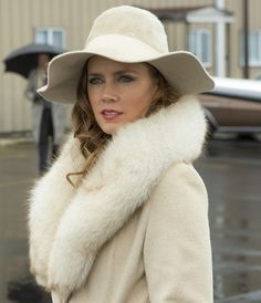 American Hustle inspiration - white fur, white coat, white hat