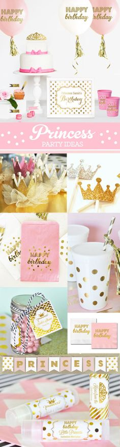 Princesa Party Decor princesa guirnalda princesa por ModParty