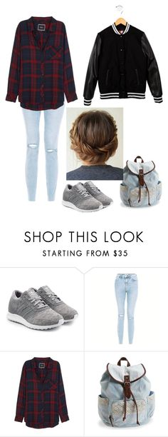 """School outfit"" by wolf134 on Polyvore featuring adidas Originals, Rails, Aéropostale and MSGM"