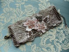 Lace cuff by Angela Campos: