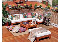 Terasa - Spalvinga terasa ant stogo | Domoplius.lt