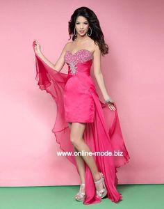 Vokuhila Kleid Abendkleid in Pink von www.online-mode.biz